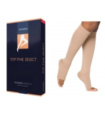 Elastic Top Fine Select Knee-high Stockings