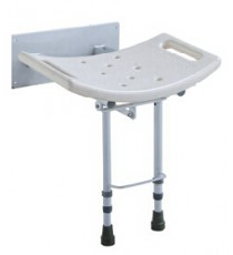 Folding Wall Shower Seat w / Feet