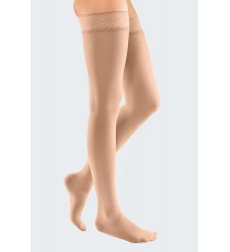 Elegance Elastic Stockings Up to the Thigh (Semi-transparent mesh)